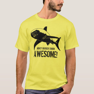 Camiseta Tubarão do texugo de mel impressionante!