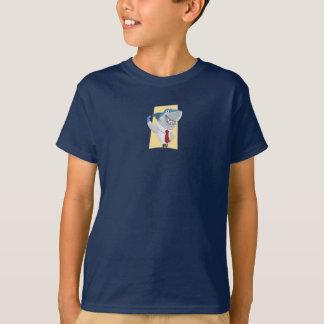 Camiseta Tubarão ostentando do desenho das crianças do