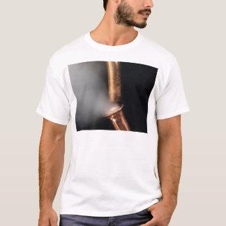Camiseta Tubulações de cobre com vapor