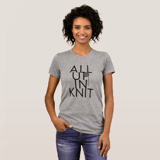 Camiseta Tudo acima no t-shirt/T da malha para knitters