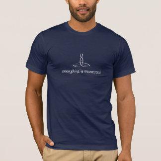 Camiseta Tudo é conectado - o estilo sânscrito branco