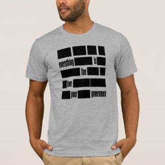 Camiseta Tudo é MUITO BEM. Ame seu governo