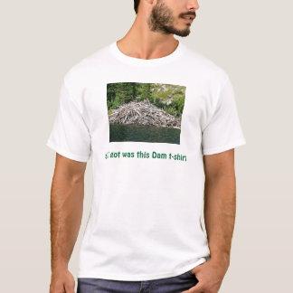 Camiseta tudo que eu obtive era este t-shirt da represa