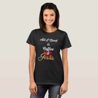 Camiseta Tudo que eu preciso é café e Jesus Jesus engraçado