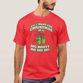 Camiseta tudo que eu quero para o Natal é um hoe grande do