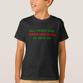 Camiseta Tudo que eu quero para o Natal é você a fechar