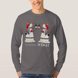 Camiseta Tudo que eu quero para o Natal é você. Camisola