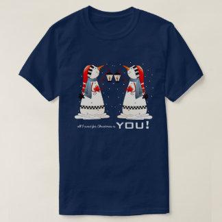 Camiseta Tudo que eu quero para o Natal é você. T-shirt