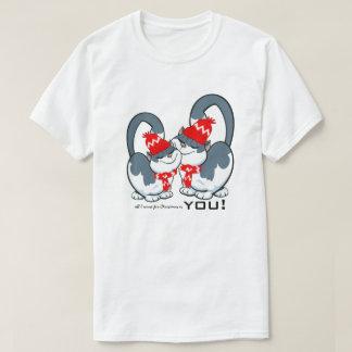 Camiseta Tudo que eu quero para o Natal é você. T-shirt do