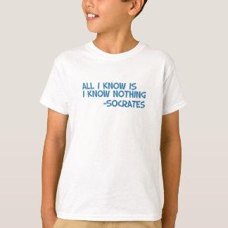 Camiseta Tudo que eu sei é mim não sabe nada
