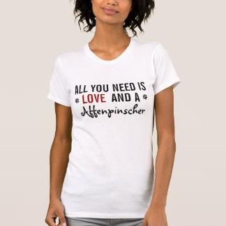 Camiseta Tudo que você precisa é amor e um Affenpinscher