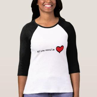 Camiseta Tudo que você precisa é luva do amor 3/4