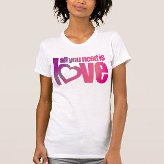 Camiseta Tudo que você precisa é parte superior cor-de-rosa