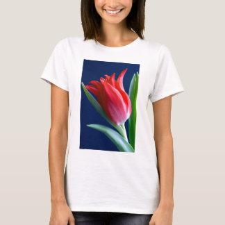 Camiseta Tulipa elegante Vermelha