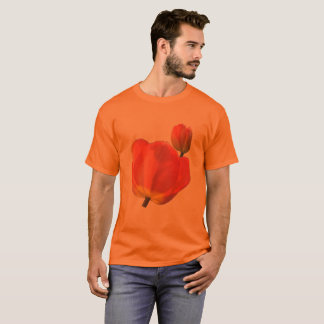Camiseta Tulipas vermelhas na laranja até 6x mais o tamanho