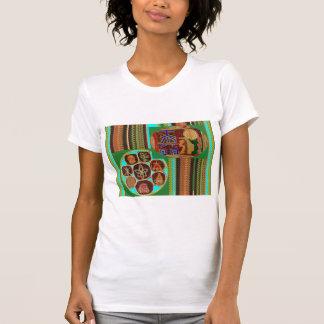 Camiseta Túnel cósmico de Chakra do símbolo cura de REIKI
