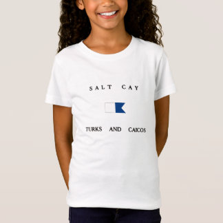 Camiseta Turcos do Cay de sal e bandeira alfa do mergulho