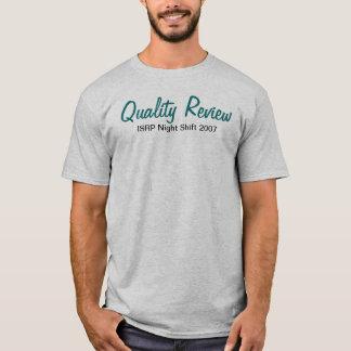 Camiseta Turno da noite 2007 de ISRP, revisão de qualidade