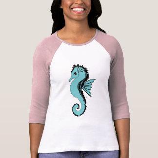 Camiseta turquesa do cavalo marinho