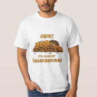 Camiseta Turquia engraçada que esconde na acção de graças