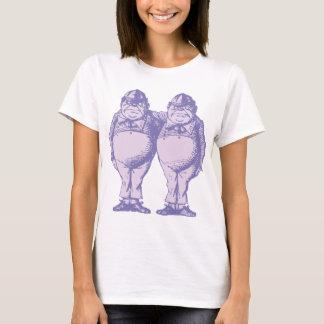 Camiseta Tweedle Dee e Tweedle a lavanda coberta Dum