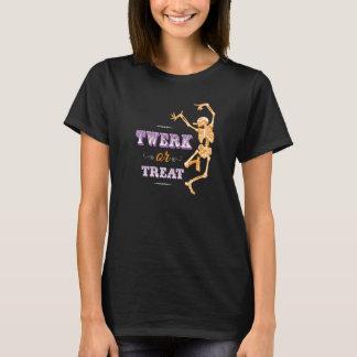 Camiseta Twerk ou t-shirt do esqueleto da dança do Dia das