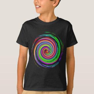 Camiseta Twirl do arco-íris