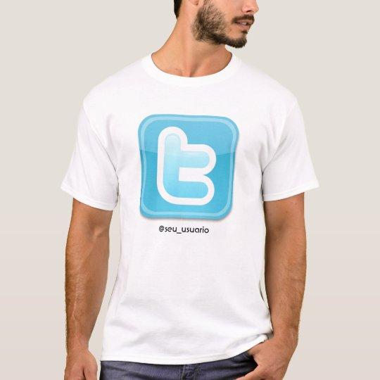 Camiseta twitter, @seu_usuario