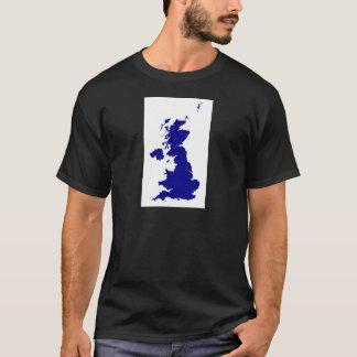Camiseta U.K. e silhueta de Irlanda do Norte
