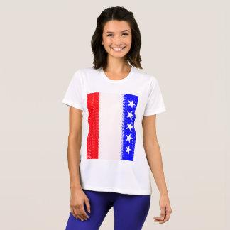 Camiseta U.S.A. Bandeira com esportes Julie superior