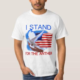 Camiseta U.S. Bandeira e pomba que eu represento o hino