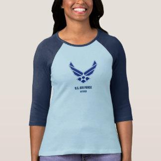 Camiseta U.S. Mulher aposentada força aérea Bella+T-shirt