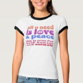 Camiseta u todo é love & peace need -. - a2
