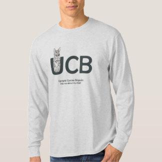 Camiseta UCB produz o T Sleeved longo dos homens do german
