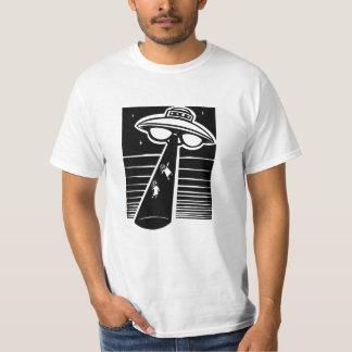 Camiseta UFO - woodcut