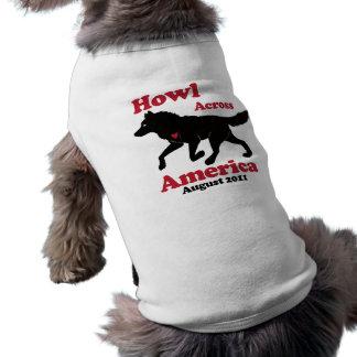 Camiseta Uivo através da camisola do cachorrinho de América