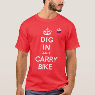 Camiseta UKCyclocross - escavação dentro e bicicleta do