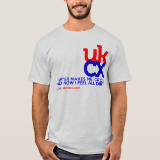 Camiseta UKCyclocross - eu sinto sujo