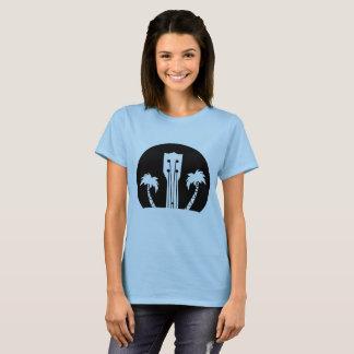 Camiseta Ukelele e palmeiras