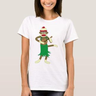 Camiseta Ukulele do macaco da peúga