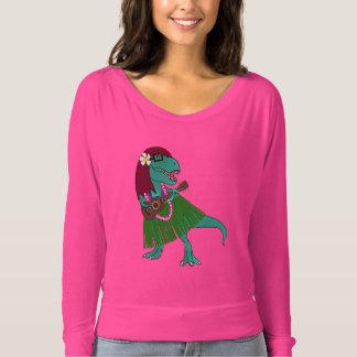 Camiseta Ukulele havaiano do dinossauro