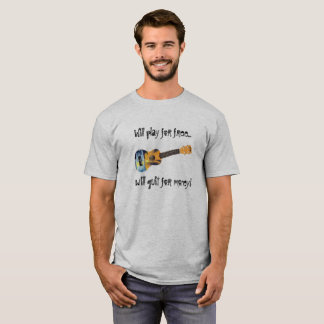 Camiseta Ukulele - jogo para livre parado para o dinheiro