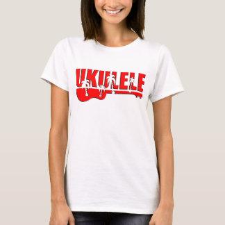 Camiseta ukulele vermelho
