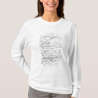 Camiseta Última página 'de um la Pesquisa du Temps Perdu'