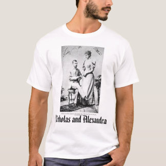 Camiseta Último czar e Czarina, Nicholas e Alexandra