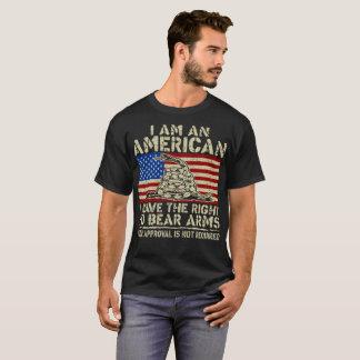 Camiseta Um americano tem o Tshirt direito do veterano dos
