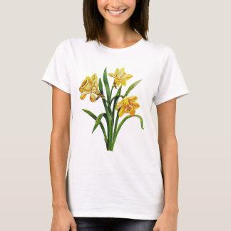 Camiseta Um anfitrião dourado de Daffodils bordados