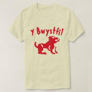 Camiseta Um animal com bwystfil do texto y