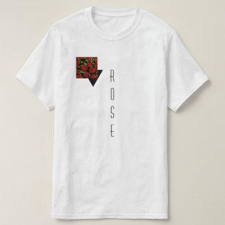 Camiseta Um branco temático T do rosa