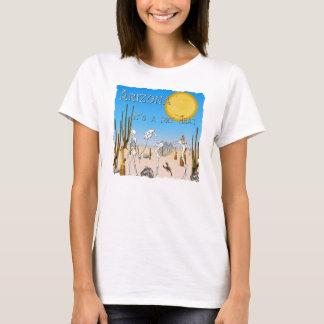 Camiseta Um calor seco